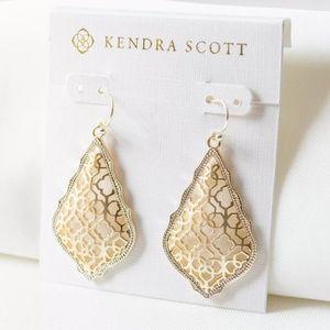 "Kendra Scott ""Addie"" Gold Filigree Drop Earrings"